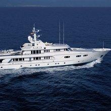 Lady M II Yacht Running Shot