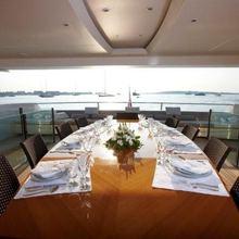N.M.N Yacht Dining on Upper Deck