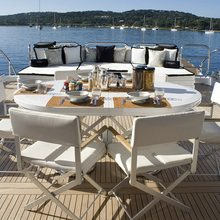 Pure One Yacht Aft Deck Dining