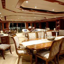 Nina Lu Yacht Interior Dining