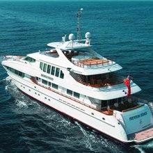The Lady K Yacht Running Shot - Aft