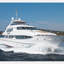 The Lady K Yacht Running Shot - Front View