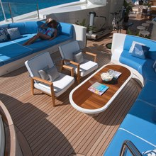 Vision Yacht Sundeck Lounge Area