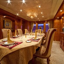 Lady Anastasia Yacht Dining Salon