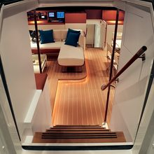 Yam 2 Yacht Stairs to Salon