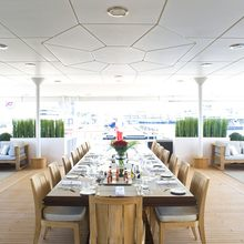 Neom Yacht Dining Area Aft
