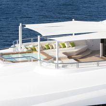Mogambo Yacht Sundeck - Aerial