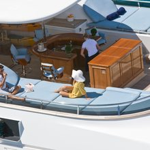 Ambition Yacht Sundeck view