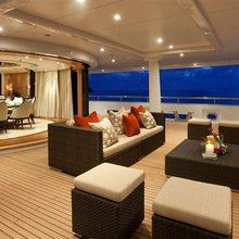 Ventum Maris Yacht Main Aft Deck from Port