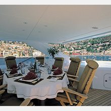 The Lady K Yacht Exterior Dining
