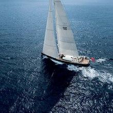 Yam 2 Yacht Running Shot - Aerial View