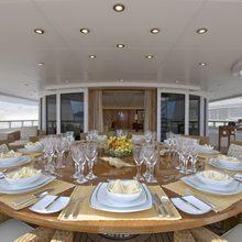 Huntress Yacht Exterior Dining
