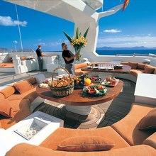 Bad Girl Yacht Sundeck Seating