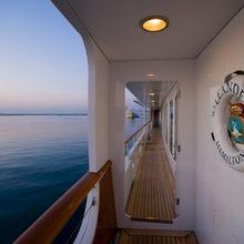 Leander G Yacht External - Side Passageway