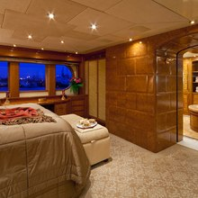 Lady Anastasia Yacht Master Stateroom & Bathroom