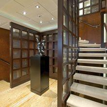 Huntress Yacht Foyer Staircase