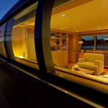 Exuma Yacht View into Upper Deck Lounge