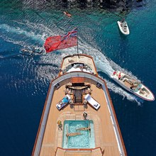 Talitha Yacht Aerial View - Pool
