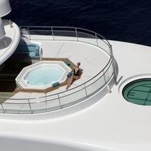 Lightning Yacht Aerial View of Jacuzzi