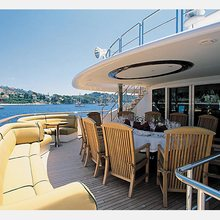 The Lady K Yacht Sundeck Dining & Seating