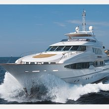 The Lady K Yacht Running Shot - Bow