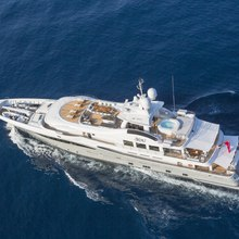 4You Yacht Running Shot - Aerial View