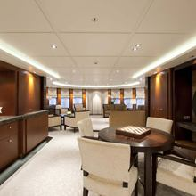 Huntress Yacht Main Deck Salon Looking Aft