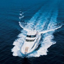 Wonder Yacht Running Shot - Aerial View