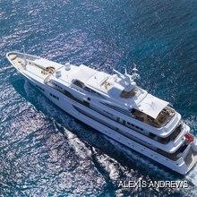 Paraffin Yacht Running Shot - Aerial View