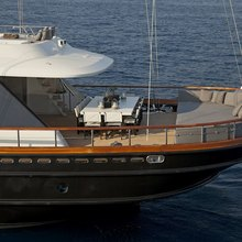 Infinity Yacht Exterior Dining - Aerial