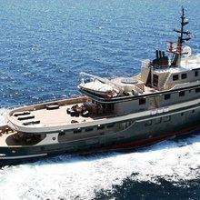 Ariete Primo Yacht Running Shot - Aerial View