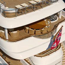 Huntress Yacht Aerial - Decks