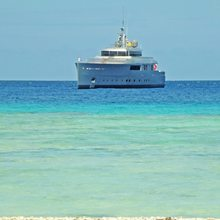 Exuma Yacht View from Shore