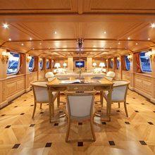 Enigma Yacht Dining Salon