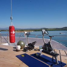No Comment Yacht Gym Equipment on Sundeck