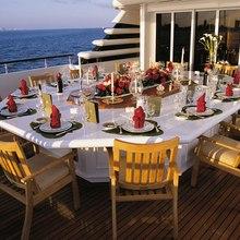 Paraffin Yacht Aft Deck Dining
