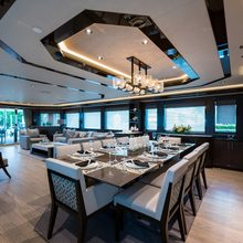 Amicitia Yacht Dining area