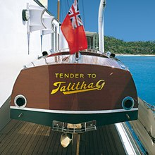 Talitha Yacht Tender - Stern