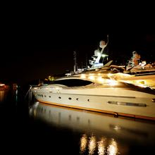 Bagheera Yacht Side View - Night