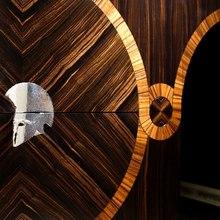 Achilles Yacht Main Salon - Desk Detail