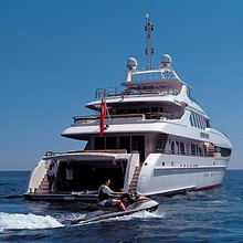 The Lady K Yacht Stern