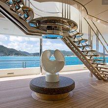 Eclipse Yacht Deck Stairwell