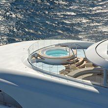 Huntress Yacht Aerial - Jacuzzi