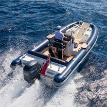 Leander G Yacht Running Shot - Rear View of Tender