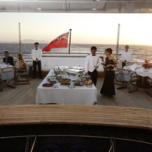 Golden Fleet Yacht Exterior Dining