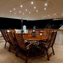 Nina Lu Yacht Exterior Dining Table