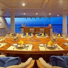 Ventum Maris Yacht Upper Dining Area