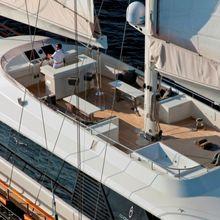 Infinity Yacht Aerial View - Flybridge