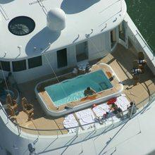 Samar Yacht Aerial View - Pool
