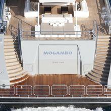 Mogambo Yacht Stern - Overhead View